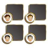 Set four boy cartoon Stock Images