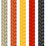 Set of four braids isolated on white. Vector illustration of hum Royalty Free Stock Photography
