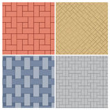 Set of four brick floor patterns Royalty Free Stock Photography