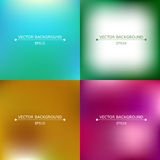 Set of four bright blurry backgrounds Royalty Free Stock Photography