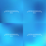 Set of four bright blurry backgrounds Stock Photo