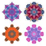Set of four bright mandalas Stock Image