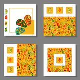 Set of four bright vector square cards royalty free illustration