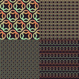Set of four brown abstract retro colors patterns Royalty Free Stock Photo