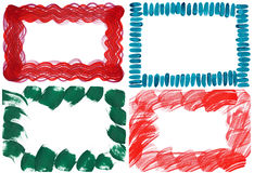 Set of four brushstroke borders Stock Image