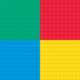 Set of four Building toy bricks. Seamless pattern. Stock Photography