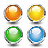 Set of four buttons Royalty Free Stock Photos