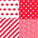 Set of four Canadian themed Patterns Stock Photography