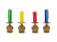 Set of four candles Royalty Free Stock Image