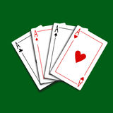 Set of Four Card Icons Stock Images