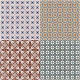 Set of four ceramic tiles patterns Stock Photo
