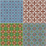 Set of four ceramic tiles patterns Royalty Free Stock Photography