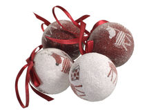 Set of four Christmas balls Royalty Free Stock Photos