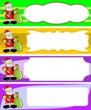 Set of four Christmas cards with santa Royalty Free Stock Photography