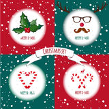 Set of four Christmas cards Stock Photography