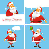 Set of four Christmas and New Year cards Royalty Free Stock Photography