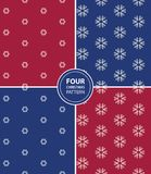Set of four Christmas seamless patterns Royalty Free Stock Photography