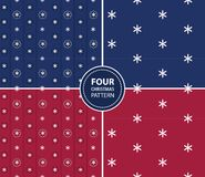 Set of four Christmas seamless patterns Stock Photography