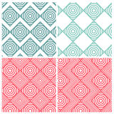 Set of four circle combine square patterns Royalty Free Stock Photography