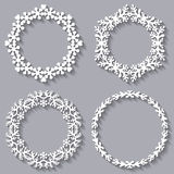 Set of four circular frames for your design Royalty Free Stock Photos