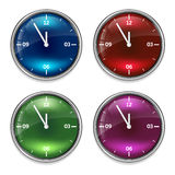 Set of four clock Royalty Free Stock Photo