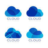 Set of four cloud templates. Vector set of four cloud templates Stock Image