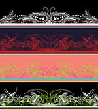 Set Of Four Color Border  Elements Royalty Free Stock Images