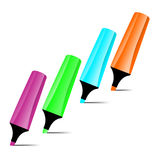 Ilustrated marker set Royalty Free Stock Images