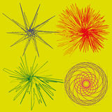 Set four colored abstract of stylized effects Royalty Free Stock Photo