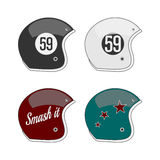 Set of four colored Football Helmets Royalty Free Stock Photos