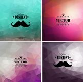 Set of four colorful abstract geometric background Stock Photos