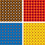 Set of four colorful backgrounds. Set of four colorful dotted backgrounds vector illustration