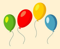 Set of four colorful balloons vector illustration Royalty Free Stock Photo