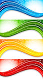 Set of four colorful banners Stock Image