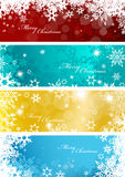 Set of four colorful Christmas backgrounds Royalty Free Stock Photography