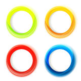 Set of four colorful circle frames Royalty Free Stock Images