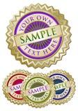 Set of Four Colorful Emblem Seals royalty free illustration