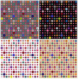 Set of four colorful geometric patterns Royalty Free Stock Photos
