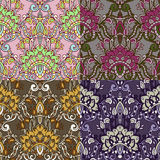 Set of four colorful seamless patterns. EPS-8. Royalty Free Stock Photography