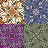 Set of four colorful seamless patterns. EPS-8. Stock Image