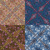 Set of four colorful seamless patterns. EPS-8. Stock Images