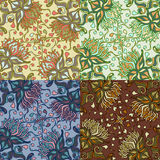 Set of four colorful seamless patterns. EPS-8. Stock Photography