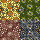 Set of four colorful seamless patterns. EPS-8. Stock Photo