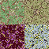 Set of four colorful seamless patterns. EPS-8. Royalty Free Stock Photo
