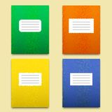 Set of the four colorful textured notebooks Stock Photography