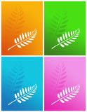 Set of four colors. Set of four colors abstract background Stock Photo