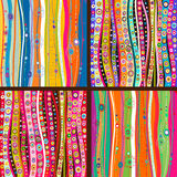 Set of four colourful line background Royalty Free Stock Photo