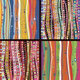 Set of four colourful line background. Stock Photos
