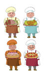 Set of four cooks Stock Photos