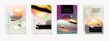 Set of four covers templates abstract background Royalty Free Stock Photography